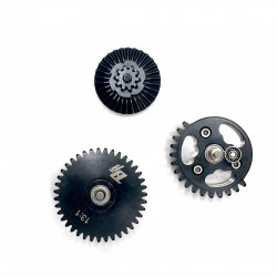 13:1 CNC steel cut gear set with bearings