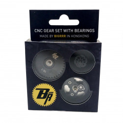 16:1 CNC steel cut gear set with bearings