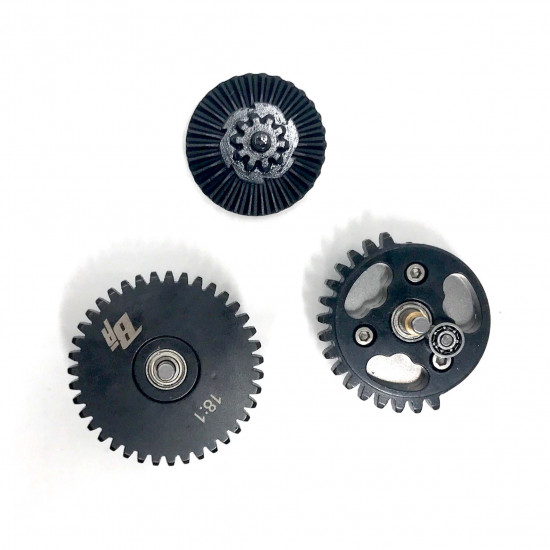 18:1 CNC gear set with bearings